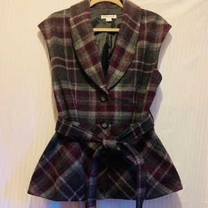 Pendleton Belted Wool Vest